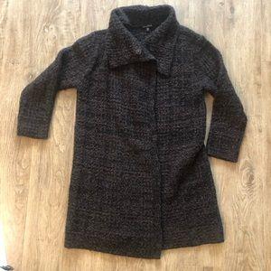 Eileen Fisher knit coat organic wool alpaca